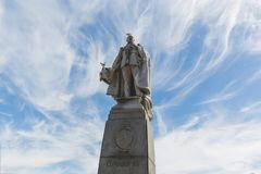 Statue of King Edward VII opposite Cape Town City Hall Stock Image