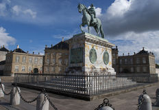 Statue of King Frederik V in Copenhagen. Royalty Free Stock Images
