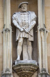Statue of King Henry VII at Kings College in Cambridge Stock Images