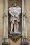 Statue of King Henry VII at Kings College in Cambridge Royalty Free Stock Photography