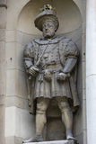 King Henry VIII Statue in London Stock Photos