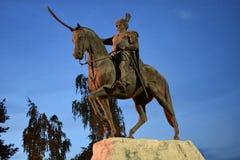 Statue of King Jan Sobieski stock photo