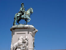 Statue of King Joao I. Of Portugal in Lisbon Stock Photos