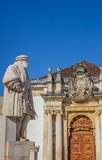 Statue of King Joao III on the university square of Coimbra Stock Image