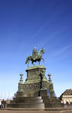Statue of King John of Saxony in Dresden Royalty Free Stock Image
