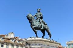 Statue of King João I at Praça da Figueira, Lisbon Royalty Free Stock Image