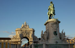 Statue of King Jose 1 in Lisbon, Portugal Stock Photos
