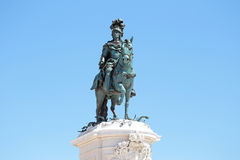 Statue of King Jose on the Commerce square in Lisbon Portugal Royalty Free Stock Images