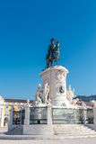 Statue of king Jose I. Commerce square. Royalty Free Stock Photo