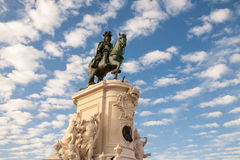 Statue of King Jose I in Front of Sky, Lisbon, Portugal Royalty Free Stock Images