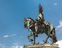 Statue of King Jose I on Praca do Comercio in Lisbon Stock Image