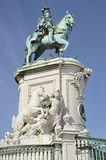 Statue of King Jose in Lisbon in Portugal Stock Images