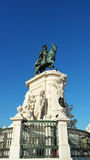 Statue of King Joseph, Lisbon, Portugal Stock Photos