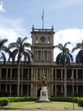Statue of King Kamehameha in downtown Honolulu Stock Photography