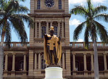 Statue of King Kamehameha I Stock Image
