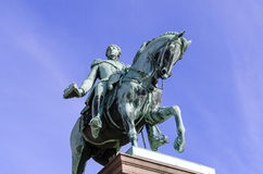 Statue of King Karl Johan Royalty Free Stock Photo