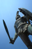 Statue of king Leonidas. In Sparta, Greece Stock Images