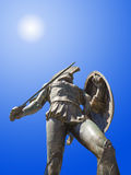 Statue of king Leonidas in Sparta, Greece. History background royalty free stock photo