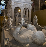 Statue of king Louis XII in  basilica of saint-denis Stock Photography