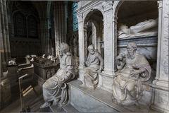Statue of king Louis XII in  basilica of saint-denis Royalty Free Stock Photography