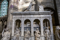 Statue of king Louis XII in  basilica of saint-denis Stock Photo