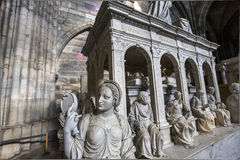 Statue of king Louis XII in  basilica of saint-denis Royalty Free Stock Photo