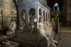 Statue of king Louis XII in  basilica of saint-denis Royalty Free Stock Image