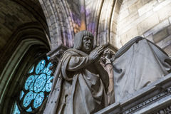 Statue of king Louis XII in  basilica of saint-denis Stock Photos