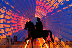 Statue of King Louis XIV in Place Bellecour in Lyon, France Stock Image