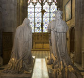 Statue of king Louis XVI ad Marie-Antoinette in  basilica of saint-denis Stock Images