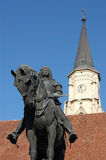 Statue of King Mathias (Matyas) in Cluj, Romania Stock Images