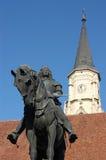 Statue of King Mathias (Matyas) in Cluj, Romania Stock Images