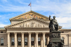 Statue of King Max Joseph in front of the Munich Opera Stock Photography