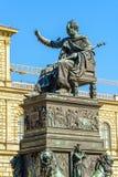 Statue of King Maximilian Joseph 1835, Munich city, Bavaria, G. Statue of King Maximilian Joseph 1835 by Christian Daniel Rauch at Max-Joseph-Platz, Munich city stock photos