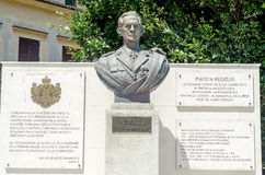 The statue of King Michael the first of Romania Stock Image