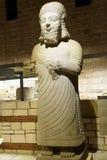 Statue of King Mutallu. Subject to Sargon II of Assyria, 1200 - 700 BCE,  Aslantepe, Malatya,  Museum of Anatolian Civilization,  Ankara, Turkey Royalty Free Stock Images