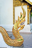 Statue king of nagas in temple Stock Photography