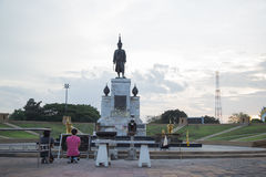 Statue of King Narai Royalty Free Stock Photography
