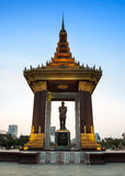 Statue of King Sihanouk,Phnom Penh, Cambodia Royalty Free Stock Photography