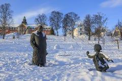 Statue of King Olav V Royalty Free Stock Image