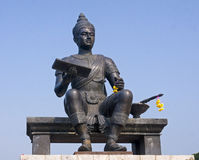 Statue of King in a park in Sukhothai stock images