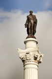 Statue of King Pedro IV in Lisbon Stock Photos