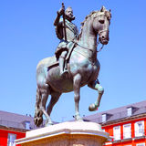 Statue of King Philip III Stock Photography