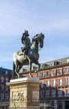 Statue of King Philip III, Madrid Stock Images