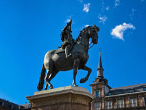 The statue of King Philip III, Madrid Stock Images