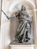 Statue of King Philip IV of Spain by Bernini in Santa Maria Maggiore basilica, Rome. Statue of King Philip IV of Spain by Bernini 1692 in the portico of the Royalty Free Stock Image