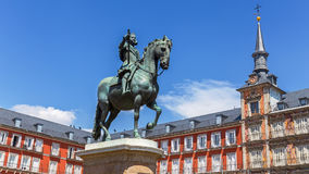 Statue of King Philips III  in Madrid, Spain Royalty Free Stock Image
