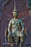 Statue of King Ponhea Yat behind of Wat Phnom temple in Phnom Pe. Nh, Cambodia Royalty Free Stock Photography