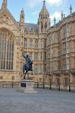 Statue of King Richard 1, house of parliament Royalty Free Stock Photos