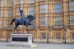 Statue of King Richard 1 - London Stock Photo